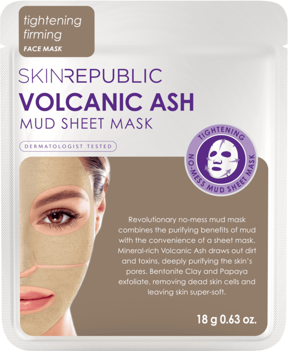 SKIN REPUBLIC Volcanic Ash Mud Sheet Face Mask