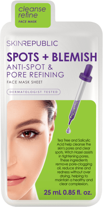 Spots + Blemish Gesichts-Tuchmaske 25ml