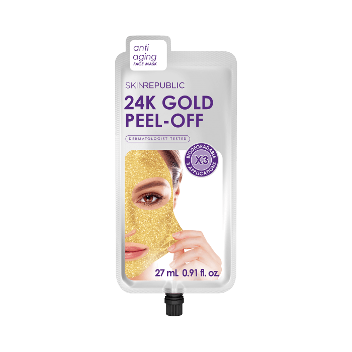 Gold Peel-Off Face Mask (3 MASKS)