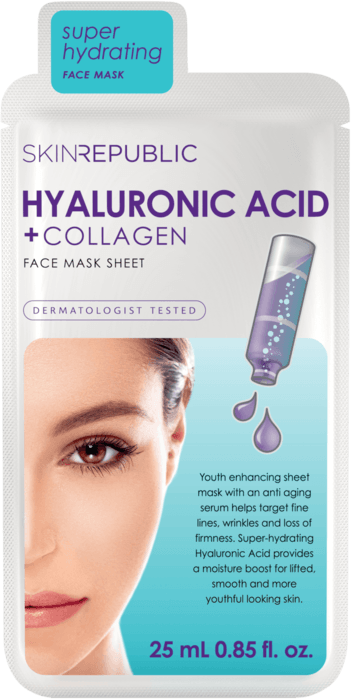 SKIN REPUBLIC Hyaluronic Acid + Collagen Gesichts-Tuchmaske 25ml