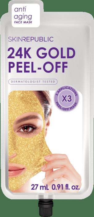 SKIN REPUBLIC Gold Peel-Off Face Mask (3 MASKS)