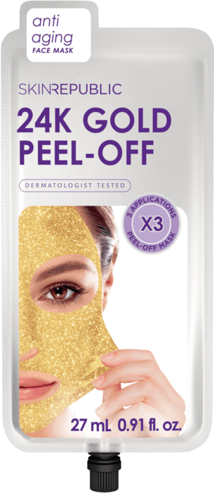 Gold Peel-Off Face Mask (3 MASKS)