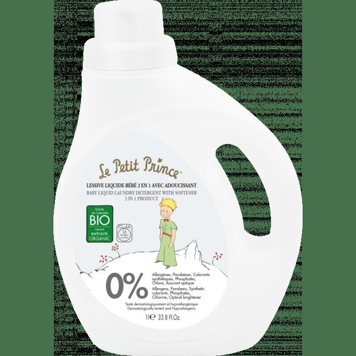 LE PETIT PRINCE 2-in-1 Flüssigwaschmittel mit Weichspüler 1000ml - mit Extrakten aus Bio-Calendula
