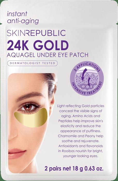 SKIN REPUBLIC 24K Gold Aquagel Under Eye Patches (2 PAIRS)