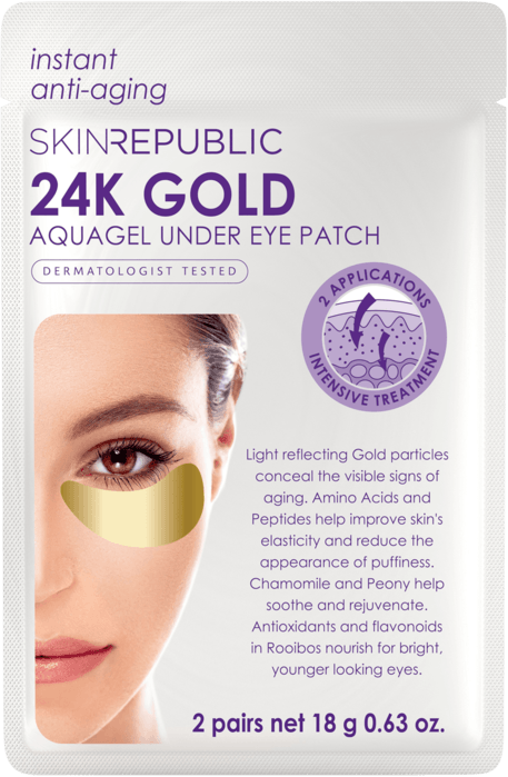 Gold Aquagel Under Eye Patches (2 PAIRS)