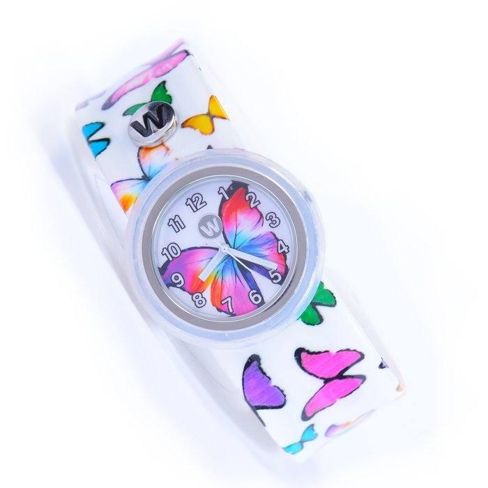 WATCHITUDE Slap Watch 435 Butterfly Gems Kinderuhr