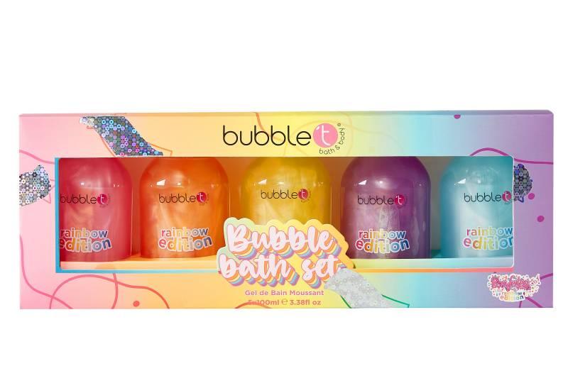 BUBBLE T GIFT SET RAINBOW BUBBLEBATHSELECTION