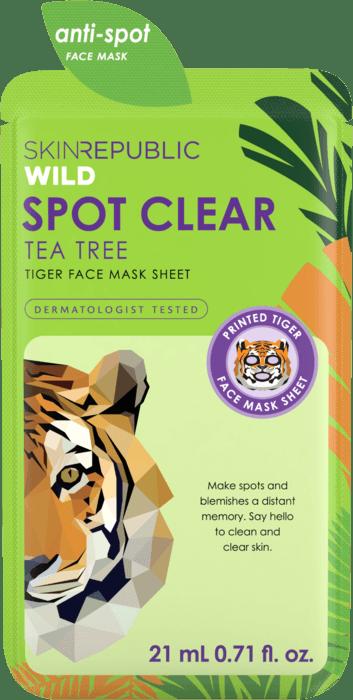 Spot Clear Tiger Face Mask Sheet