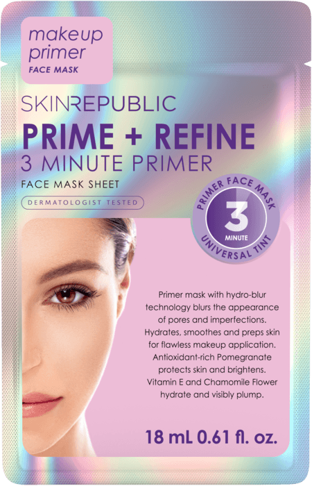 SKIN REPUBLIC 3 Minute Primer Face Mask Sheet
