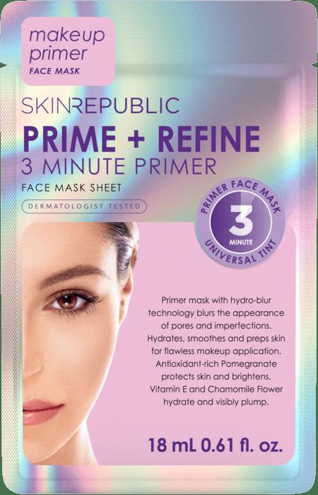 SKIN REPUBLIC 3 Minute Primer Face Mask Sheet