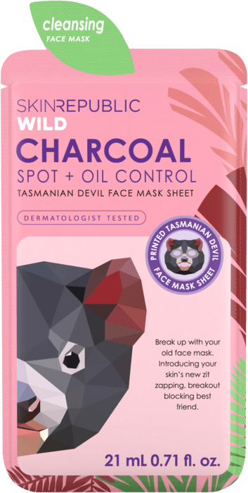 SKIN REPUBLIC Charcoal Tasmanian Devil Face Mask Sheet