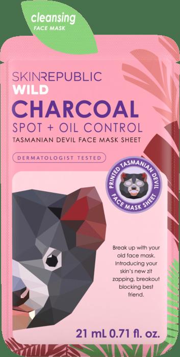 Charcoal Tasmanian Devil Face Mask Sheet