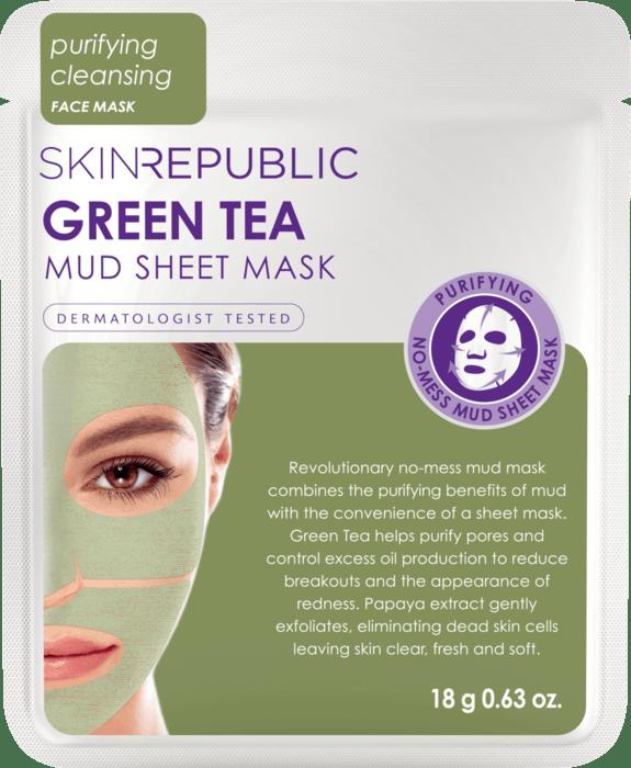 Green Tea Mud Sheet Face Mask