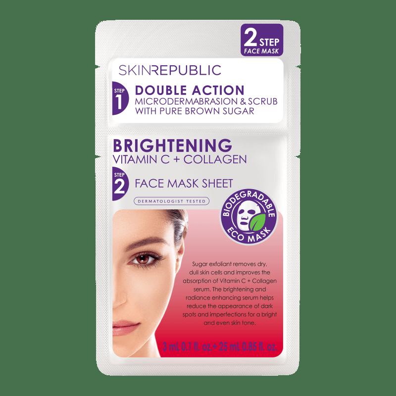 2 Step Brightening Vitamin C 3ml + Collagen Face Mask Gesichts-Tuchmaske 25ml