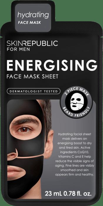 SKIN REPUBLIC Men's Energising Face Mask Sheet