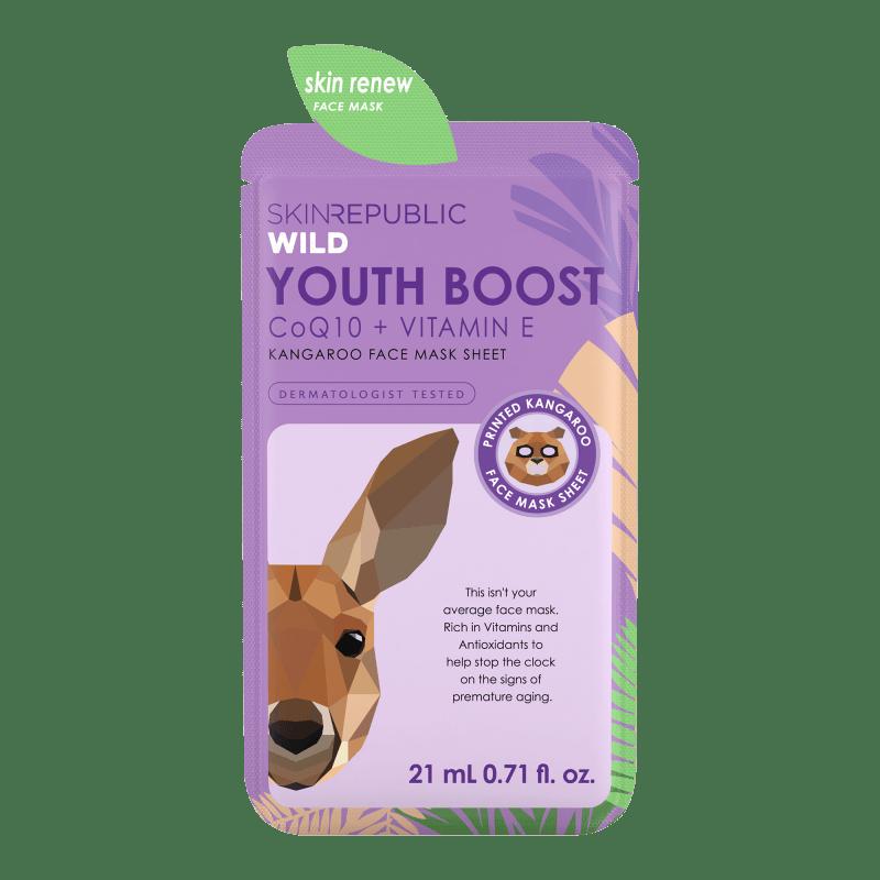 Youth Boost Kangaroo Face Mask Sheet