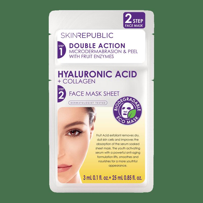 2 Step Hyaluronic Acid 3ml + Collagen Gesichts-Tuchmaske 25ml