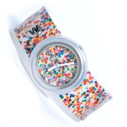WATCHITUDE Slap Watch 342 Sprinkle Dots Kinderuhr