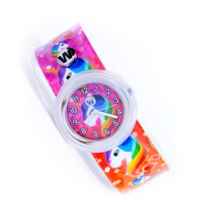 WATCHITUDE Slap Watch 432 Rainbow Unicorns Kinderuhr