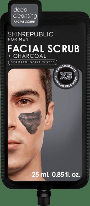 SKIN REPUBLIC Men's Charcoal Facial Scrub